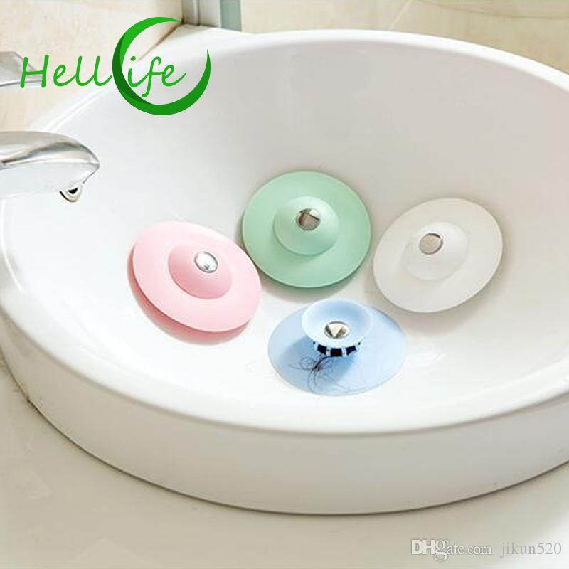 HELLOLIFE Bath Hair Catcher Floor Drain Hair Stopper Hand Sink Plug Bath Catcher Sink Strainer Cover Tools