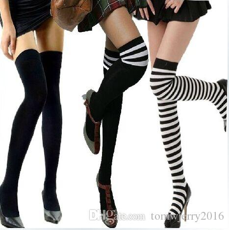 New Popular Campus wind Women &Men's fashion Cotton Striped over knee Socks & Hosiery Student High Socks Lady casual stockings 3 pieces/Lot