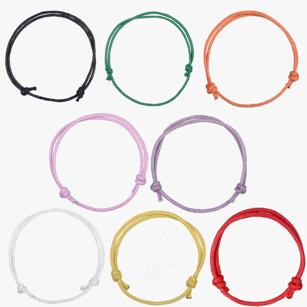 Teamer 2018 Nouvelle main coréenne Wax simple cordon Bracelet 8 amical couleurs de 20pcs Bijoux originaux réglable / lot
