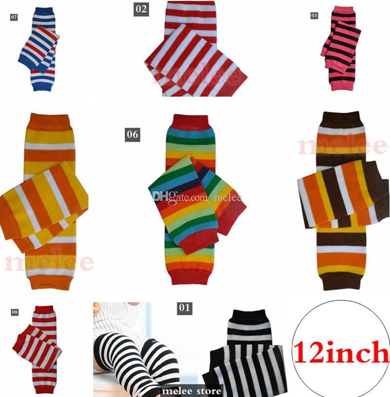 Noël Thanksgiving Day bébé rouge noir blanc rayé arc-en-ciel jambe chauffe-fourrées bébé garçons garçons coton jambe chaussettes jambières jambes de jambe