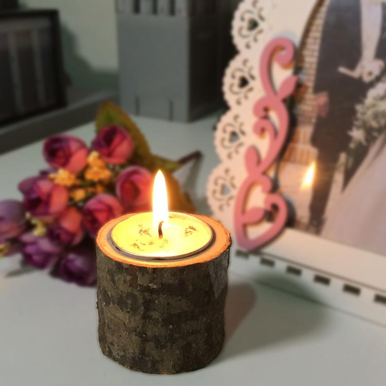 Rustic Wooden Candle Tea Light Holder Home Stable Decoration Wedding Party wooden candlestick Decor Furniture Candlelight Dinner