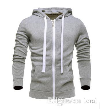 Hommes Solide Couleur Casual Cardigan Hoodies Mâle O-cou À Manches Longues Sweatshirts Conception Simple Pullover Livraison Gratuite