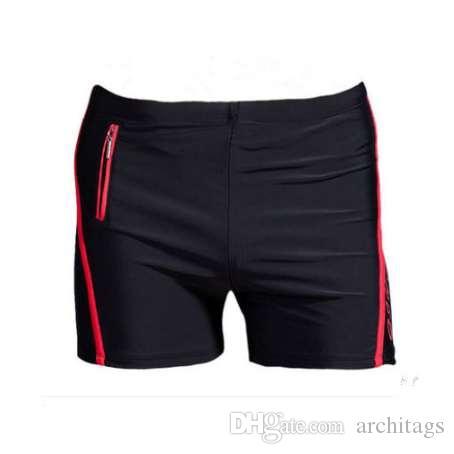XL-6XL Plus Size Swimwear Men Swimming Trunks Zipper Pocket Swimsuit Mens Swim Shorts Beach Man Wear Boxer Briefs Bathing Suits