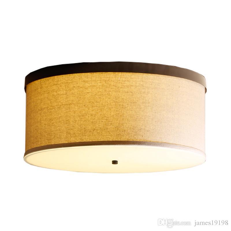 plafoniere Cina Tessuto bianco LED illumina rotonda E27 Dia 45 50CM soffitto Sospese per Foyer Albergo Home illuminazione CA014