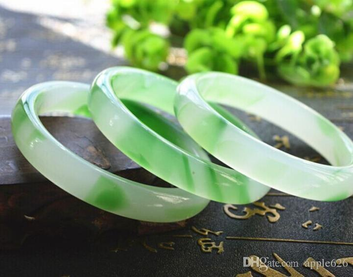 China Beautiful Fashion Female Green JADE Bracelet Bangle 63mm
