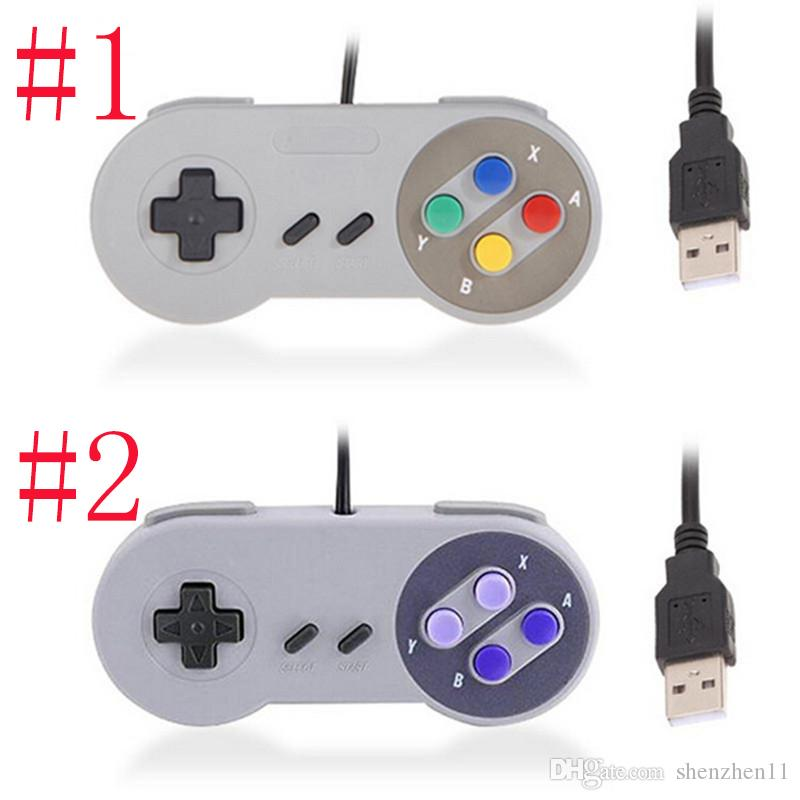 Classic Usb Controller Pc Controllers Gamepad Joypad Joystick Replacement  For Super Nintendo Mini Sfc Snes Nes Tablet Pc Lawindows OthGaming Controls