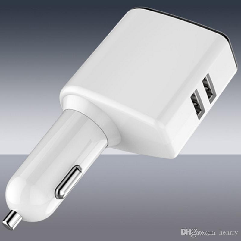 Cargador de coche universal nuevo Pantalla digital Cargador rápido de energía doble USB con una chimenea Cargador de teléfono móvil multifunción 20PCS EMS