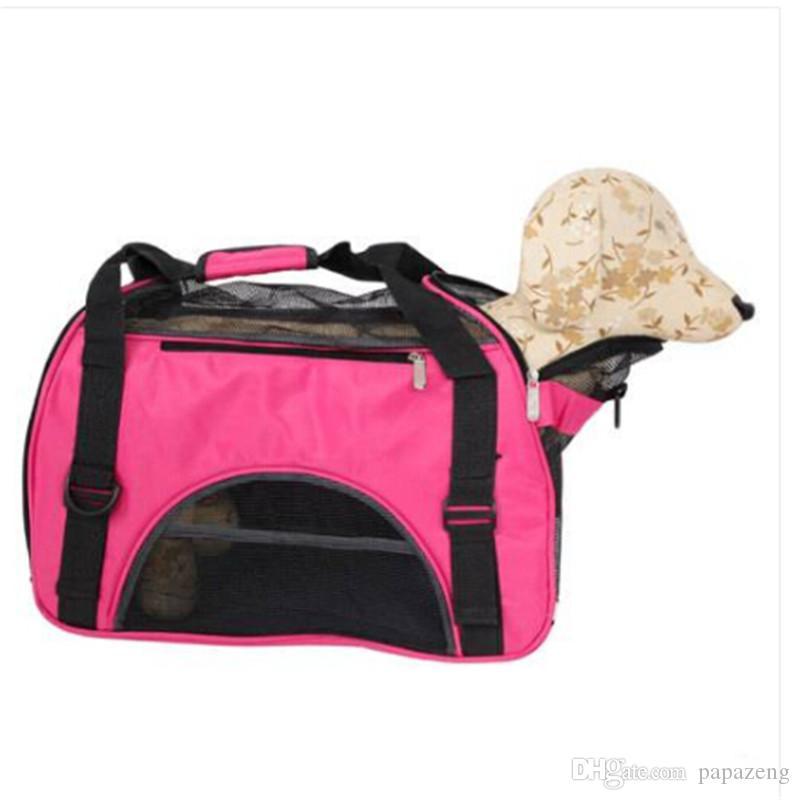Envío gratis venta caliente Hueco-hacia fuera Portátil Respirable Impermeable Bolsa de Mascotas M Perro Viajar Al Aire Libre Suministros para Perros