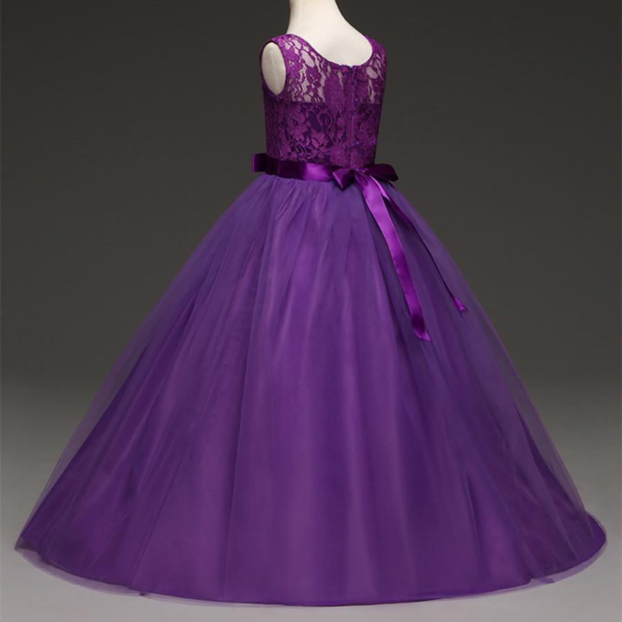 Großhandel Mädchen Kleid Lila Elegante Pageant Und Brautkleider Für Mädchen  12 12 12 Jahre Ballkleider Für Mädchen Abendkleider Für Mädchen Von Sto12,