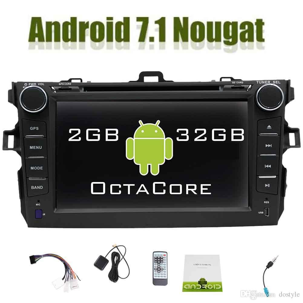 Eincar In Dash Android 7.1 Doble Din Car Reproductor de DVD para Toyata Corolla 7 '' Estéreo para automóvil Navegación GPS Unidad central WiFi OBD2 Enlace espejo