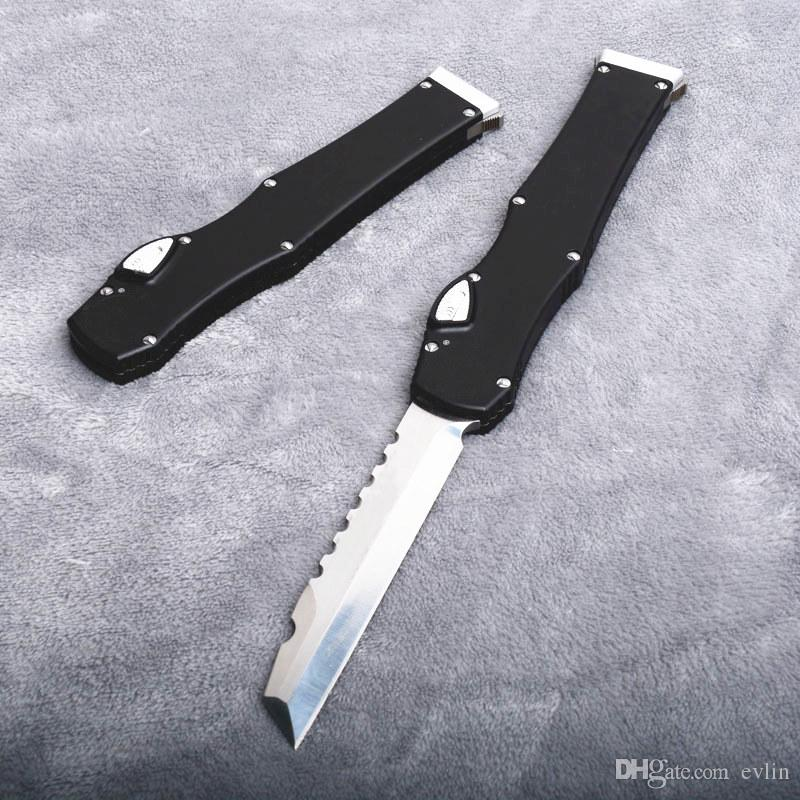 New Arrival Auto Tactical Knife D2 Satin Blade T6061 Aluminium Handle EDC Pocket Knives With Kydex And Safety Lock