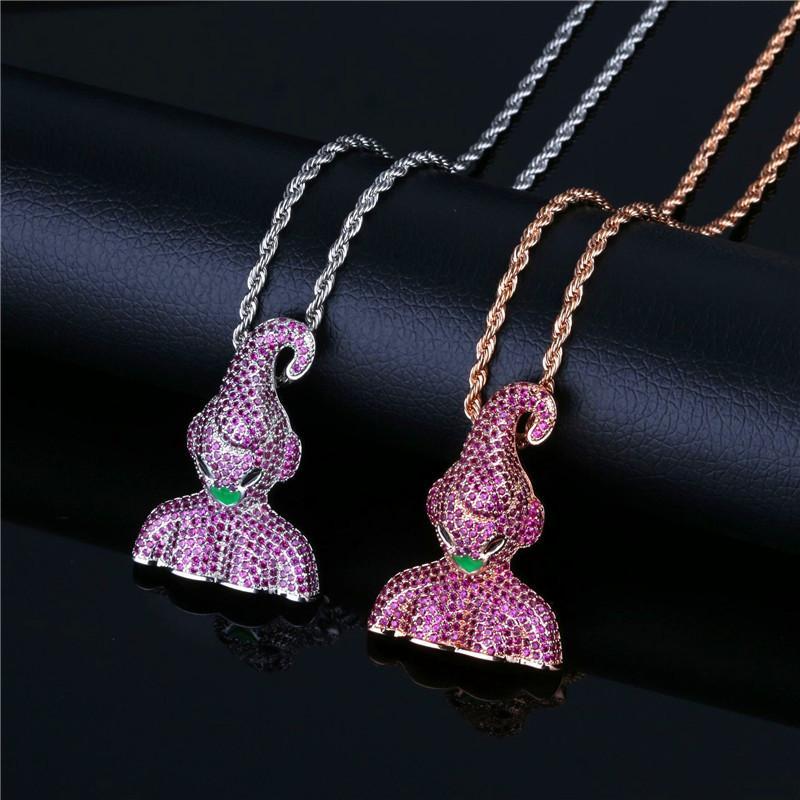Аниме Dragon Ball Majin Buu кулон ожерелье для мужчин роскошные хип-хоп ювелирные изделия 18K позолоченный CZ хип-хоп ожерелья