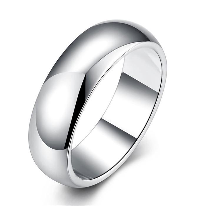 Diseño simple anillo de dedo de plata tamaño 7 # 8 # 9 # Moda unisex joyas R025