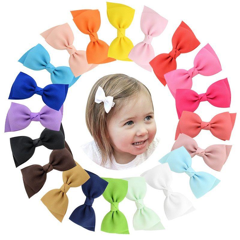 20Pcs 3 Inch Bunte süße Kinder Ganze Wrapped Sicherheit Band beugt Hairpin Haarspange Haarspangen Kid Haarschmuck Schöne Huilin C201