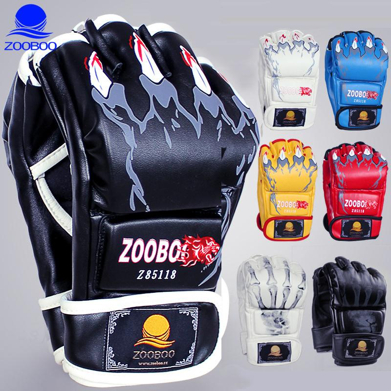 Half Fingers Boxing Gloves Men Women Sandbag Fight MMA Training KickBoxing Gloves Sanda Karate Muay Thai Taekwondo Protector Q