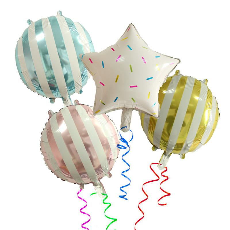 """50PCS 18""""inch Korea Freash Candy Strap Star Foil Air Balloon Recycling-used Wedding Birthday Festival Party Decor Kids Favor Toy"""