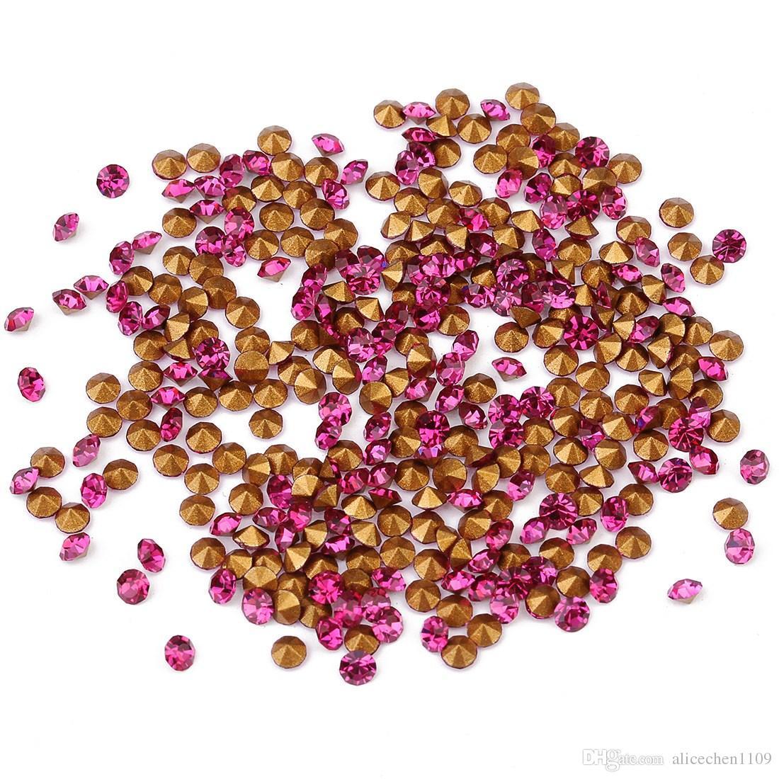 50 gram/lot (about1440pcs) Apical cerchio di Cristallo Branelli Del Diamante Per La Casa FAI DA TE Abbigliamento Phone Decor Apical cerchio strass gemme Flatebact