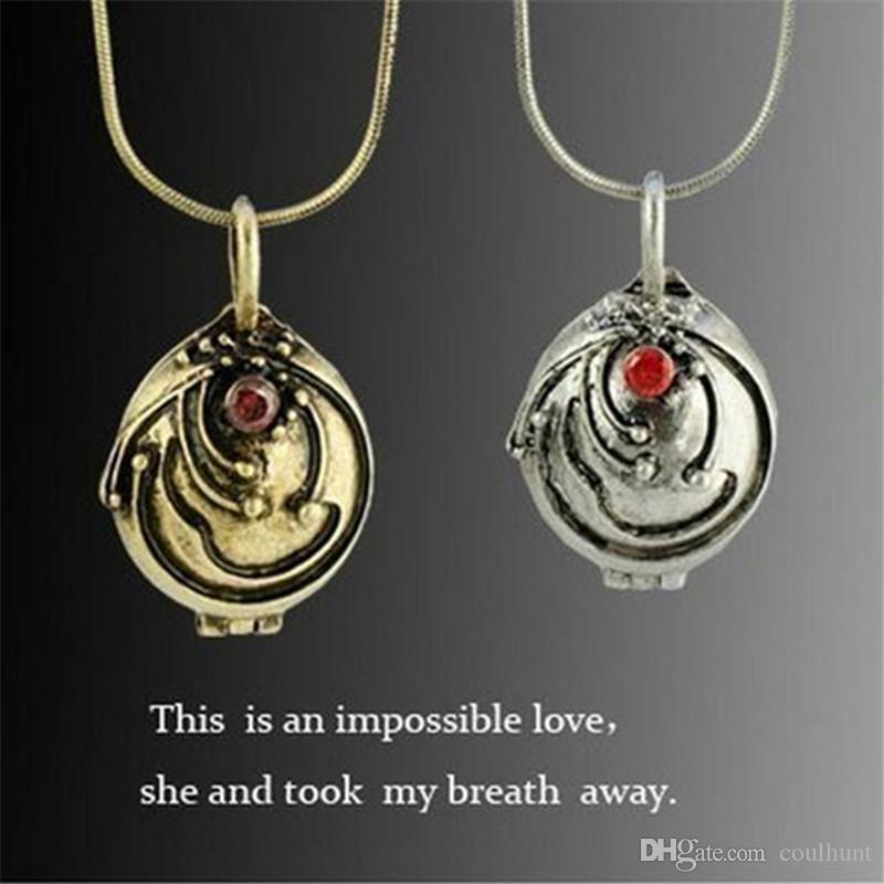 Gold Silver Pendent Necklace The Vampire Diaries Elena Vervain Jewelry Gift