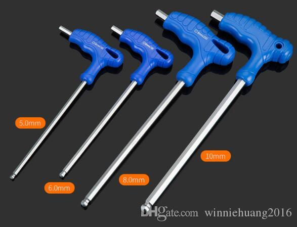 O Envio gratuito de Melhor Qualidade 7 PÇS / SET T-tipo-H de Caminhada-stick Hex Wrench Set T Lidar Com Chave Allen Chave Allen Hex Chave Chave Inglesa Ferramentas Manuais
