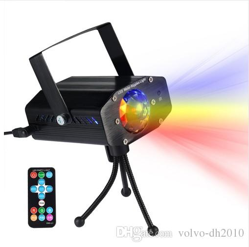 LEDGLE Portable Water Wave Lights Compact Ripple Projector with Remote Controller 3 Lighting Modes Various Color Sound Activated LLFA
