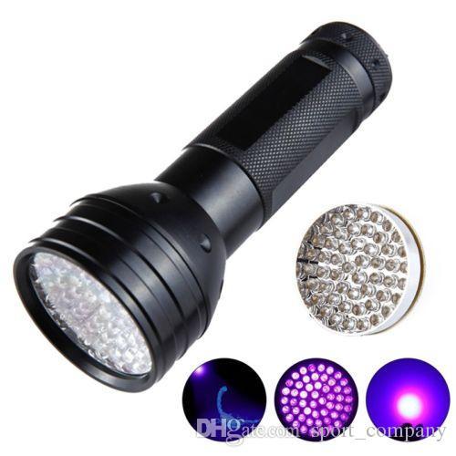 51 Torcia UV a LED 395nm Torcia a ultravioletti Viola Luce Torcia nera Alluminio Shell contraffatti rilevati Pet Urine Stain Detector Lampada