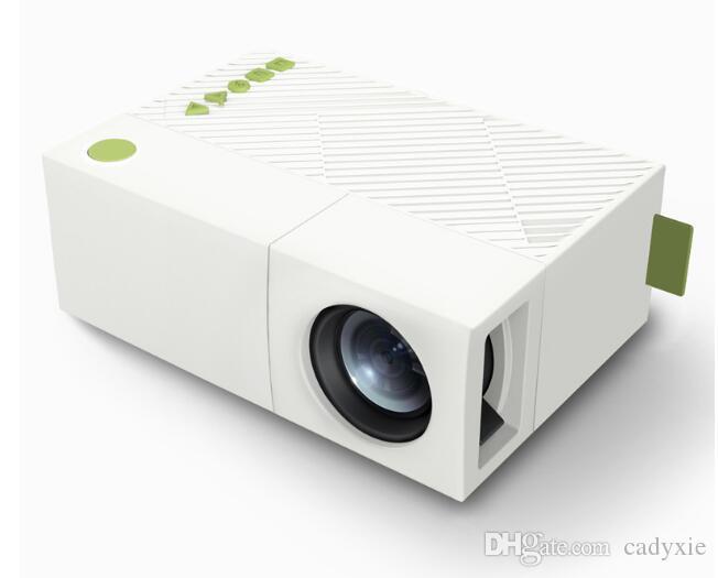 Projecteur LED YG310 LCD Projection LED haute résolution 400-600Lum 1080P Audio AV Fente pour carte Micro SD Mini projecteur