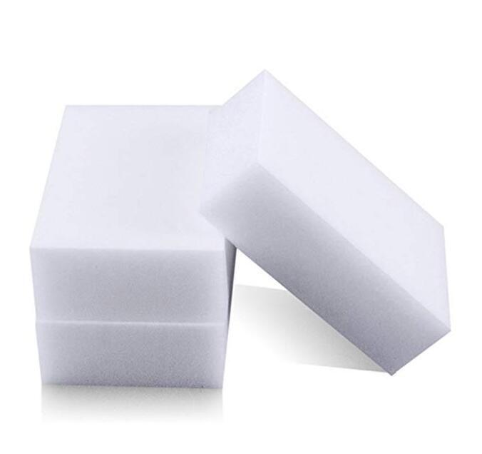 100pcs / lot blanco borrador mágico de la esponja elimina la suciedad espuma de jabón escombros de todo tipo de superficies de limpieza universal esponja auto casero
