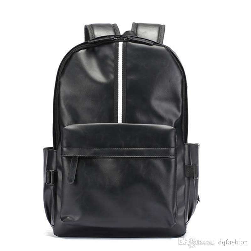 Mens Travel School Leather Backpack Satchel Laptop Bag Rucksack Shoulder Handbag