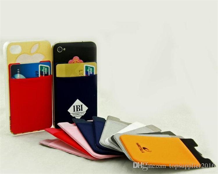 Изготовленная на заказ Логос умная кредитная карточка сотового телефона Lycra бумажника holde с конструкциями вставляет на бумажнике телефона для мобильного телефона