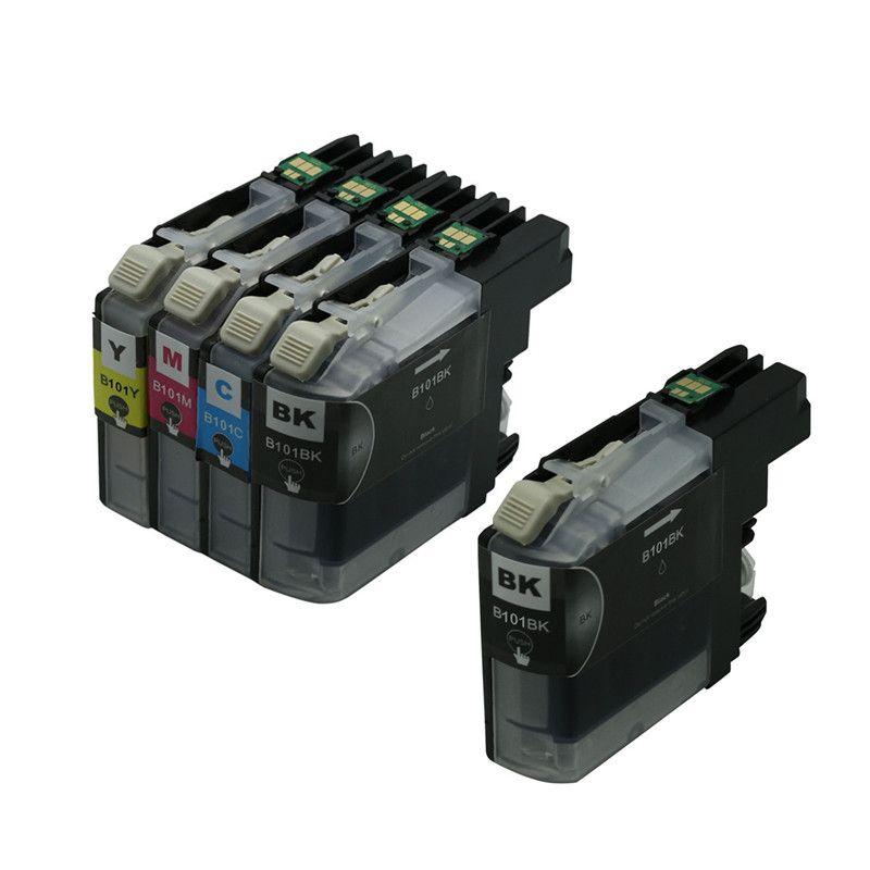 Brother MFC-J285DW MFC-J450DW MFC-J470DW MFC-J650DW MFC-J850DW 잉크 용 5PK 프린터 잉크 LC101 호환 카트리지
