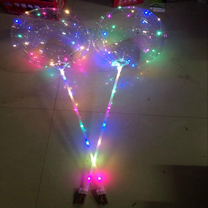50 ensembles / lot 18 pouce 20 pouces Led Ballon De Noël 3 M Bulles À Bulles De Mariage Décoration Baloon Enfants Cadeaux Fournitures De Fête De Mariage