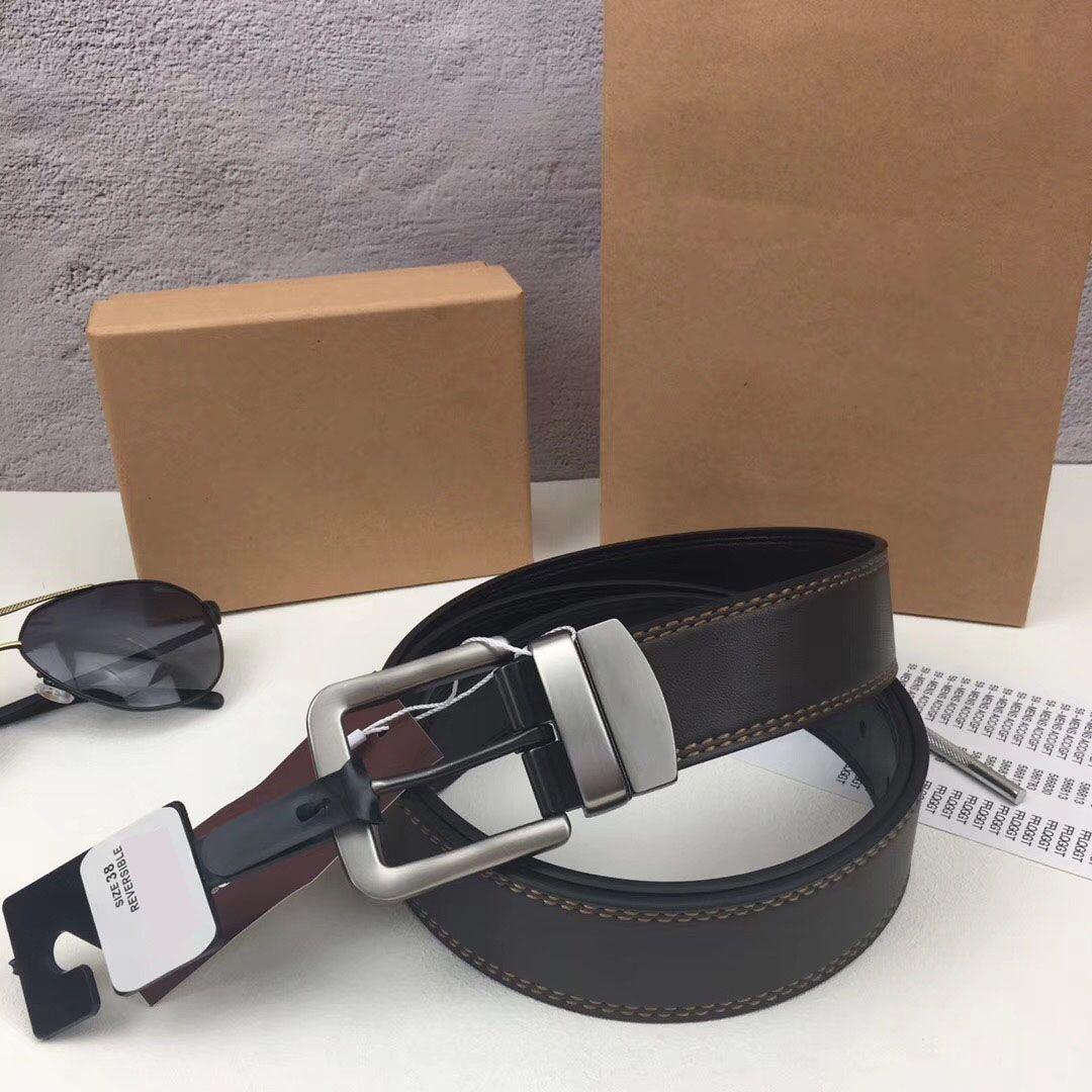 2018 Fashion Famous Brand Cuoio genuino degli uomini Cintura fibbia ad aghi uomo cinture tra cui confezione regalo di alta qualità