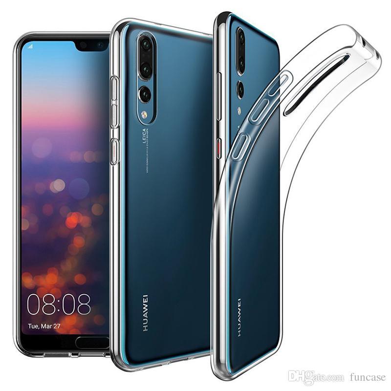 Custodia protettiva trasparente in gomma siliconica TPU ultra sottile per Huawei P30 Pro P20 Lite Mate 30 20 X 10 Nova 5i Y9 Y6 P Smart anti-knock