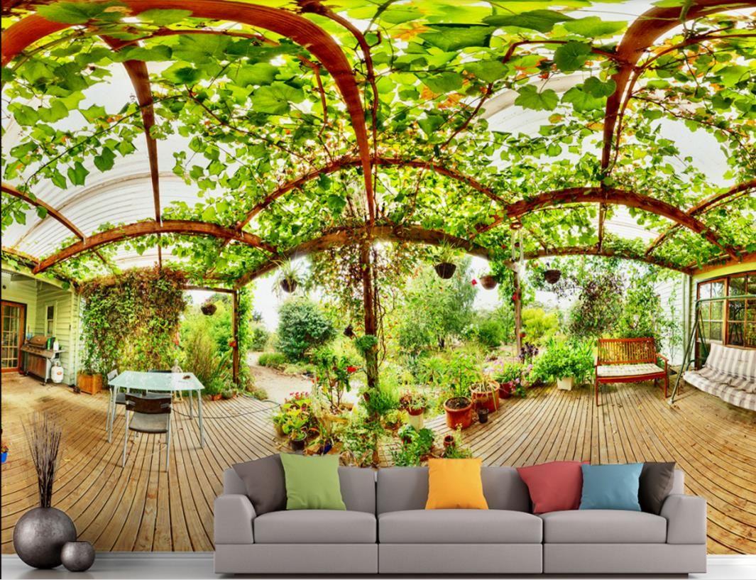 Пользовательские 3d фото обои пейзаж гостиная диван спальня фон обои 3d стереоскопический нетканые обои