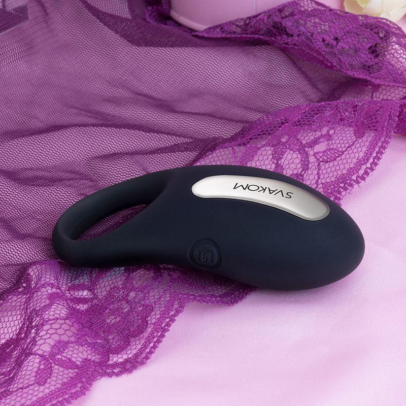SVAKOM Cockring Smart Controle Remoto Homens Adulto Winni Penis Anel de Silicone Cock Anel Vibrador Recarregável Sexo Brinquedos para Vibrating Y181008 Aakp