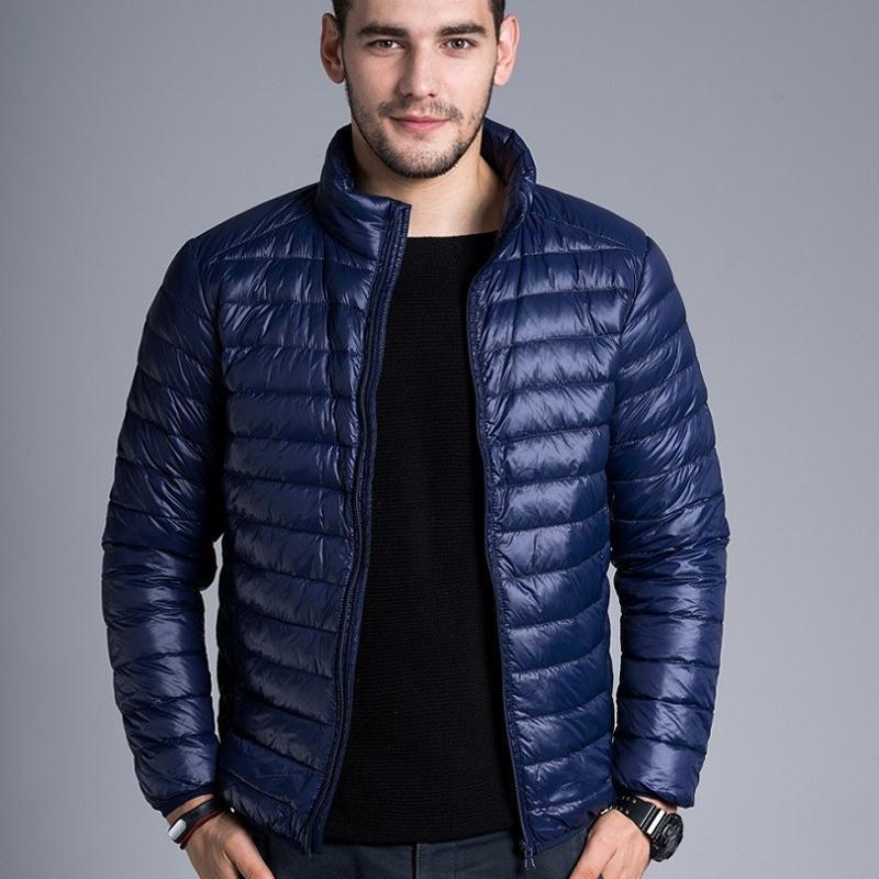 Isınma Erkekler Ceketler Katı İnce Nefes Fermuar Kış Ceket Erkek Dış Giyim Coat Hafif Parka Artı boyutu XXXXL Drop Shipping