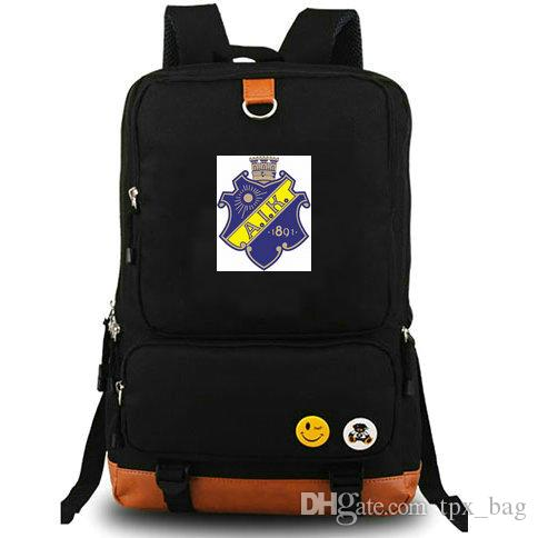 Mochila AIK Estocolmo Fãs adoro mochila Classic football club schoolbag Mochila de futebol Mochila para equipe Mochila para laptop Mochila outdoor