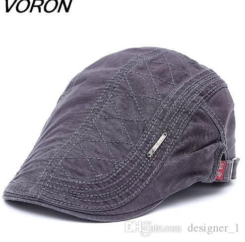 VORON New Cotton Beret Hats for Men Summer Flat Cap Male Vintage Casquette Caps Fall Berets Men's Hat for Auntumn Winter
