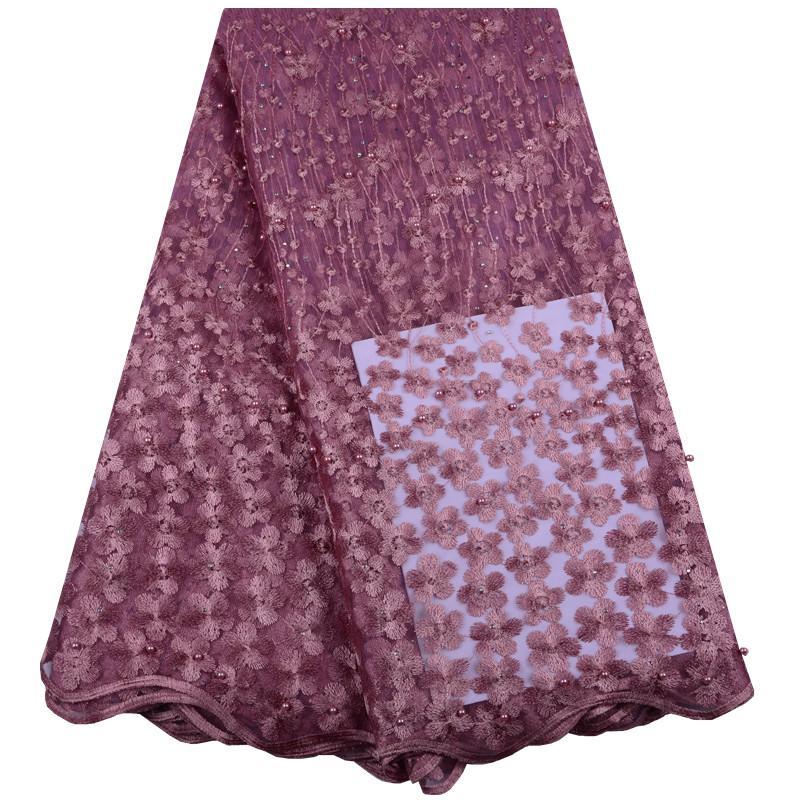 Ultime cipolle colore francese lacci tessuti di alta qualità tulle africano lacci tessuto per matrimonio nigeriano tulle pizzo materiale Y1427