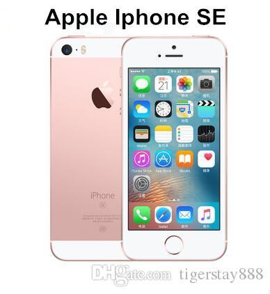 """Original desbloqueado Apple iPhone Se 4.0 """"Polegada 16/64 GB ROM 2GB RAM 12MP A9 Chip Ios 9.3 Fingerprint Dual-Core 4G LTE REFORMADO Smartphone"""