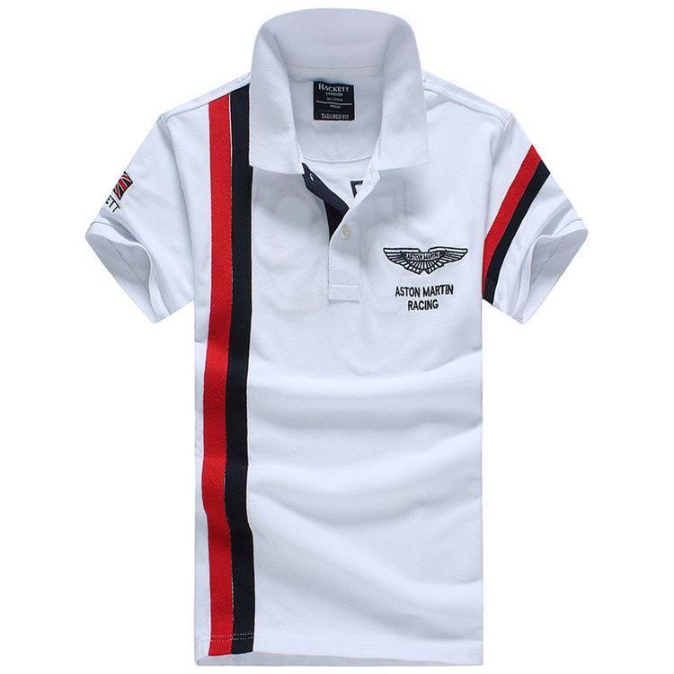 Estate di lusso di marca estiva ricamo coccodrillo Polo Shirt uomo manica corta camicie casual Mans t shirt polo solido di alta qualità