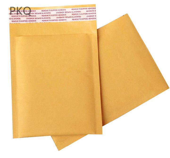 21 tamanhos Amarelo Kraft Bolha Mailing Envelope Sacos 10 pcs Bubble Mailers Acolchoados Envelopes Embalagem Sacos de Envio 11x15 cm / 20x25 cm