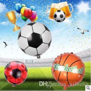 Balões de futebol basquete foil para copa do mundo balão de hélio inflável crianças toys festa de aniversário decoração balão de ar i219