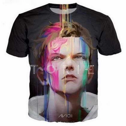 Müzik DJ Avicii 3D Komik Tişörtleri Yeni Moda Erkekler / Kadınlar 3D Baskı Karakter T-Shirt T gömlek Kadınsı Seksi Tshirt Tee Tops Giys ...