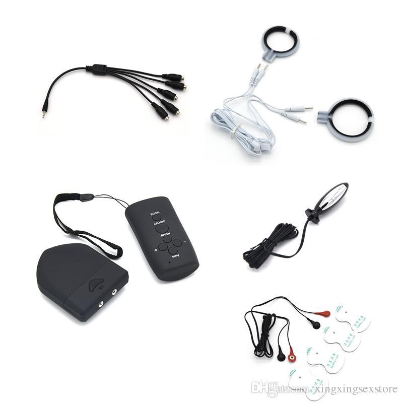 Беспроводной пульт дистанционного управления электрошок колодки липкая паста электростимулятор соски колодки анальный плагин массаж медицинские тематические игрушки