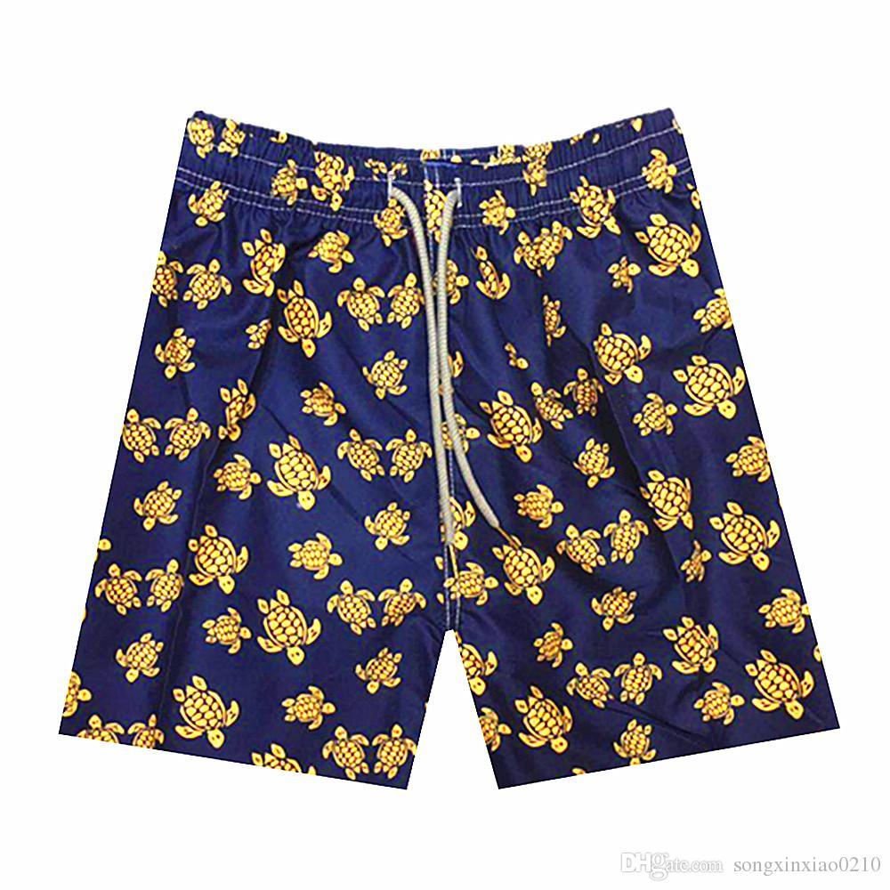 Turtle Printed Marke Männer Strand Shorts Board Boxer Shorts Shorts Bermda Casual Bottoms Fitness Schnell Trocknend Aktive Shorts Mit tag