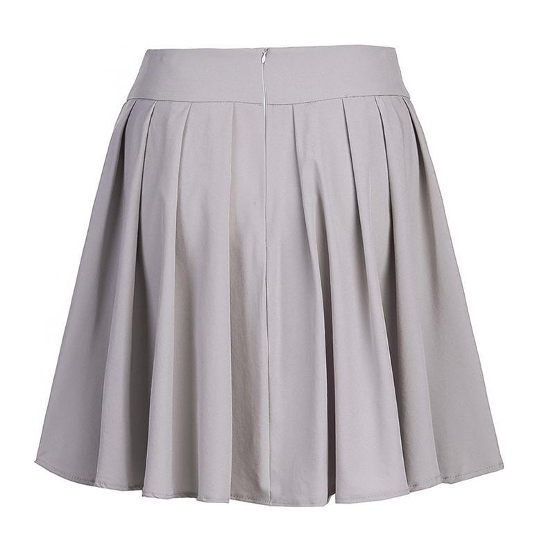 44060f662 Sweet Women Pleated Skirt Sweet School Skirt Black Grey Color Women Girls  Dance Clothing Mini Skirts KH832347