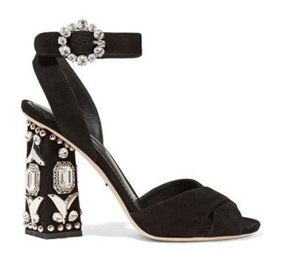 Лето роскошные Щепка зеркало кожа через горный хрусталь заклепки шпильки коренастый каблуки сандалии женщина открытым носком драгоценный камень Кристалл пряжки обувь