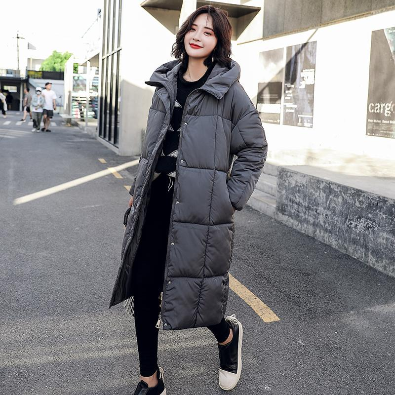 84b3f89c317 2018 loose thick winter coat women over the knee warm parka female fashion hooded  down cotton jacket women plus size coat ladies S18101505