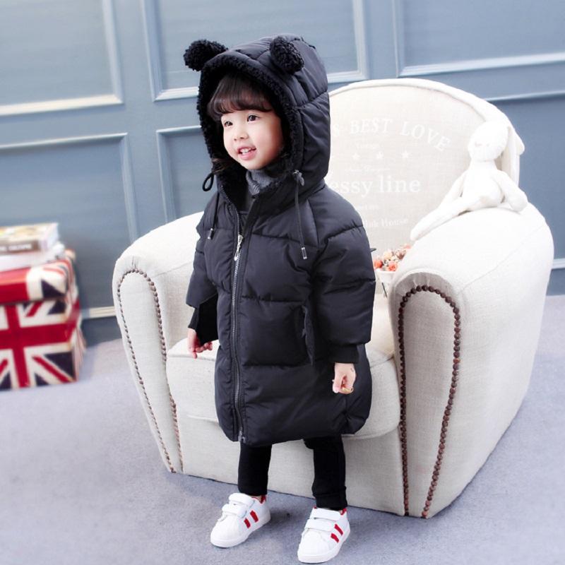 Baby Girls Boys Winter Jackets 까마귀가있는 귀여운 지퍼 자켓 베이비 유치원 Baby Cotton Outwear 레드 블랙 12M-8Years